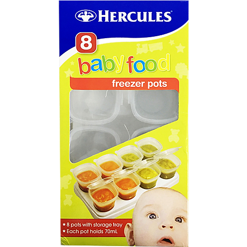 Hercules Baby Food Freezer Pots/Paint Pots | 8 pk