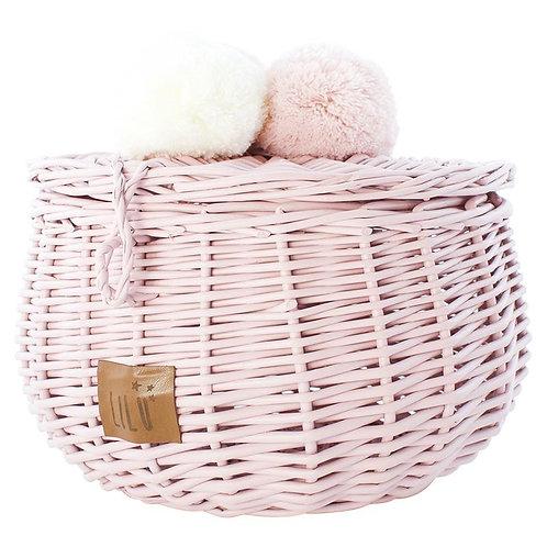 Large Wicker Basket | Dusty Pink