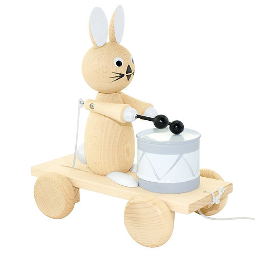 Wooden Pull Along Toy | Mabel Rabbit