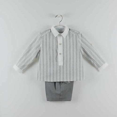 Martin Aranda Grey Stripe 2 Piece Set | 12m