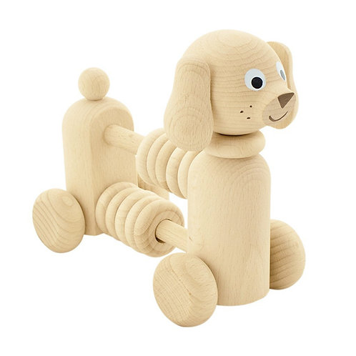 Wooden Toy with Counting Beads | Rowan Dog