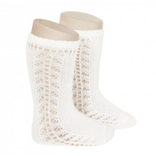 Condor 1585/2 White Knee High Sock