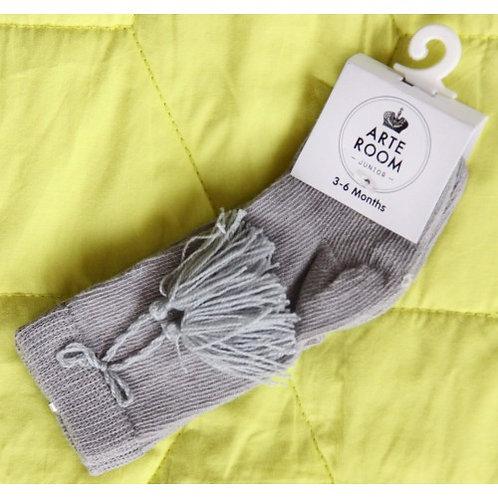 Arte Room Grey Tassel Knee High Sock
