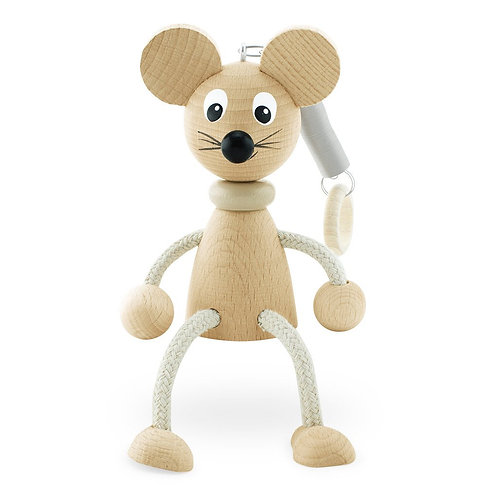 Wooden Toy on Spring | Huey Mouse