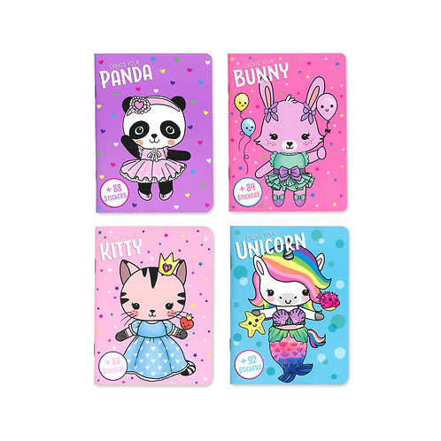 Create Your Sticker Dress Me Up Book