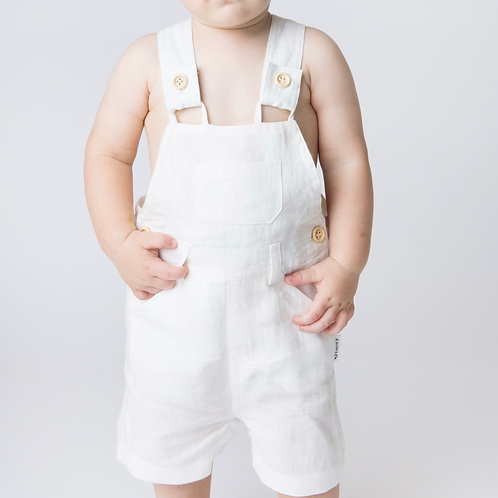 Love Henry Roy White Linen Dungaree