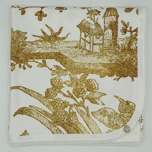 Small Dreams Organic Cotton Wrap   18th Century Chinoserie