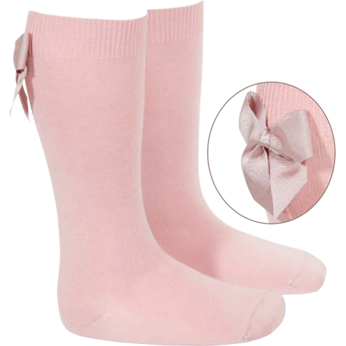 Condor 2430/2 Pale Pink Bow Knee High Sock