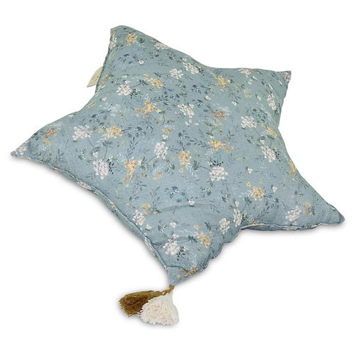 Muslin Green Branches Star Pillow | Large