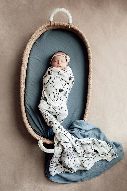 Pop Ya Tot Muslin Swaddle | Bluebird