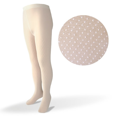 Carlomagno 1009 Cream Polka Dot Tight