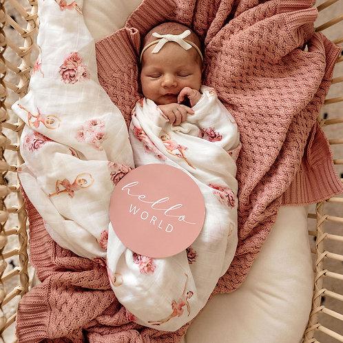 Snuggle Hunny Kids Organic Muslin Wrap | Ballerina
