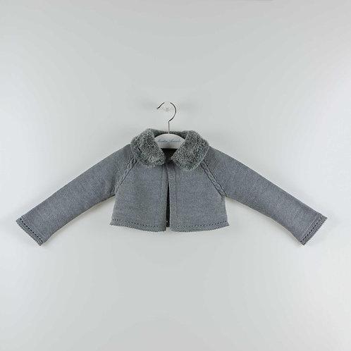 Martin Aranda Grey w/ Fur Collar Cardigan | 9m