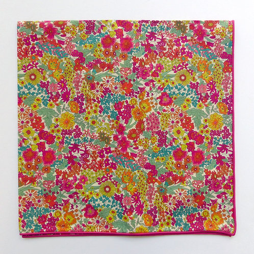 Cotton Liberty Scarf with Rolled Edge Margaret Annie Pink