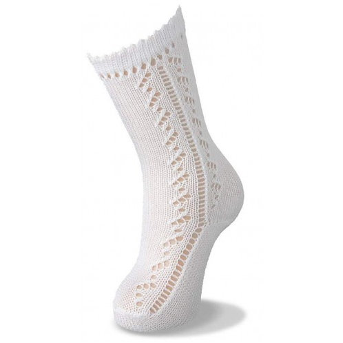 Carlomagno 37/55 White Knee High Sock