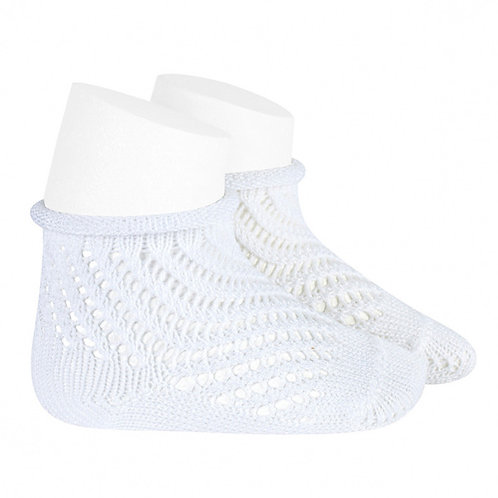 Condor 2508/4 Rolled Cuff Openwork Ankle Sock