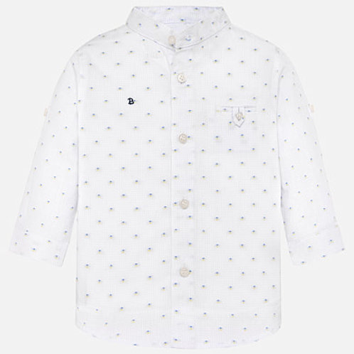 Spanish Mayoral Pale Blue with Dots Shirt Front