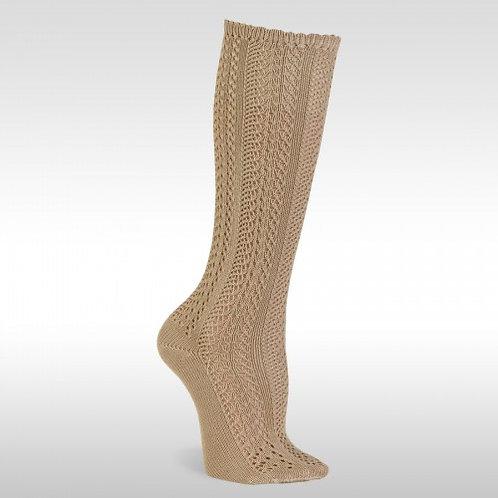 JC 31950 Camel Openwork Knee High Sock