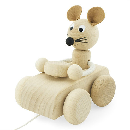 Wooden Pull Along Toy | Albert Mouse