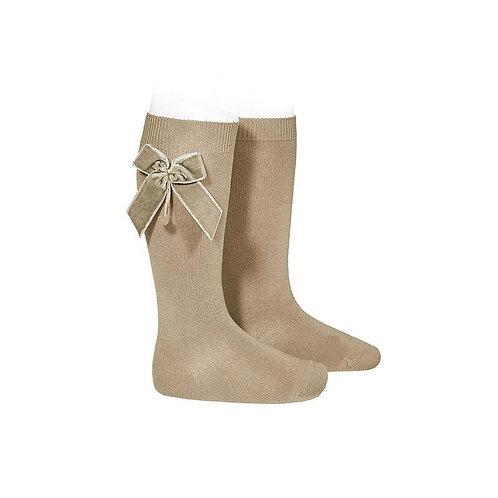 Condor 2420/2 Camel Knee High Socks