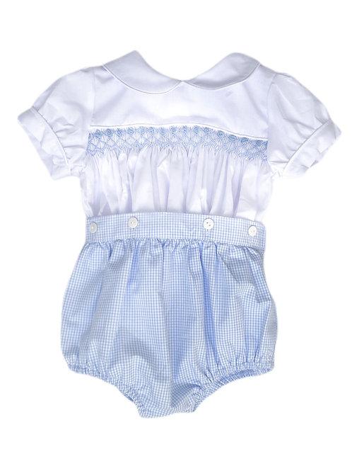 Button-On Smocked Shorts & Shirt Set | 3-6m