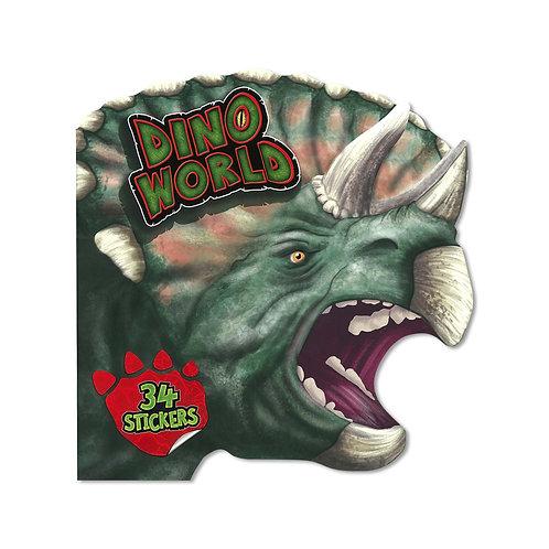 Dino World Shaped Dinosaur Sticker & Activity Book Cover