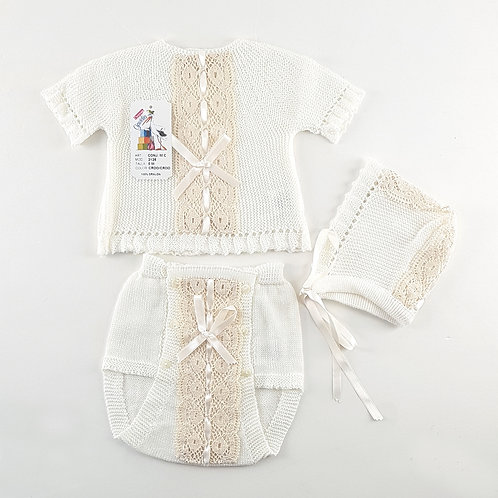Creaciones Gavidia Cream Summer 3 Piece Set