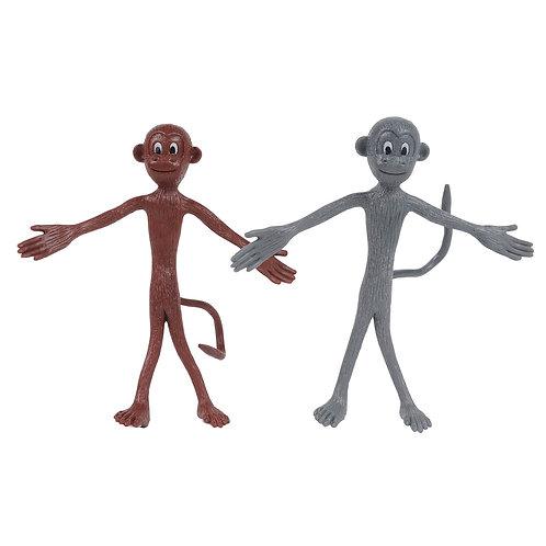 Tiger Tribe Grey & Brown Bendy Monkey