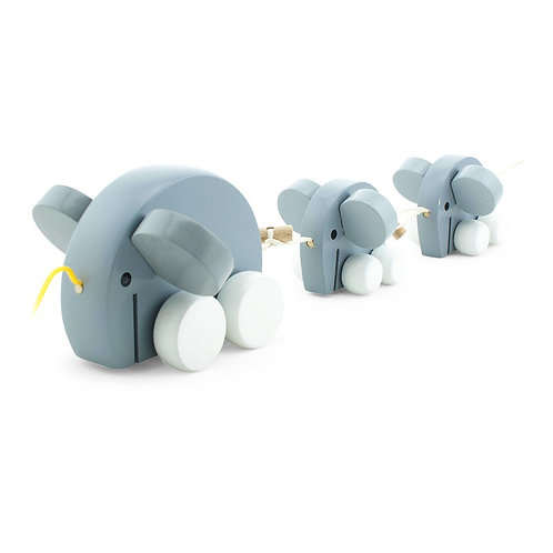 Wooden Pull Along Toy | Elephant Family