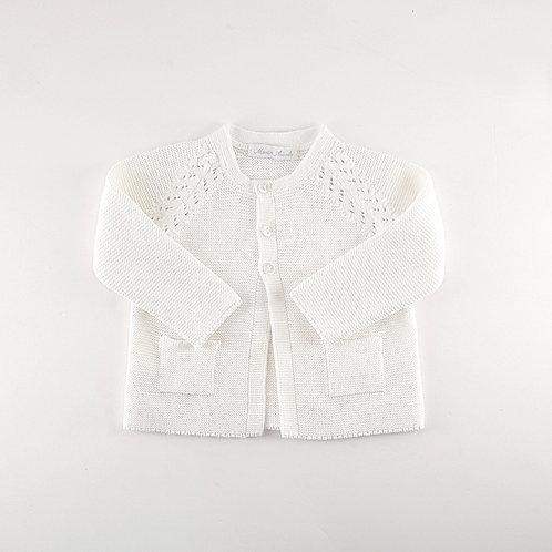 Martin Aranda Cream Knit Cardigan | 9m
