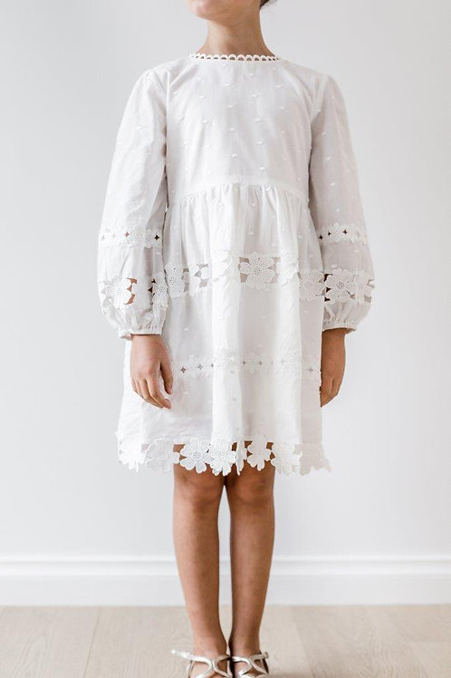 Petite Amalie Daisy Chain Dress Front View