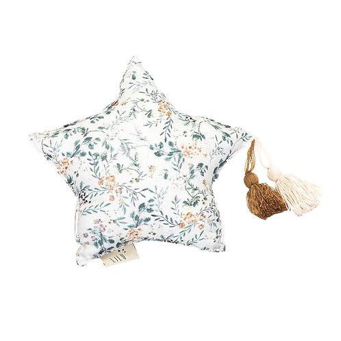 Muslin Grey Branches Star Pillow | Small