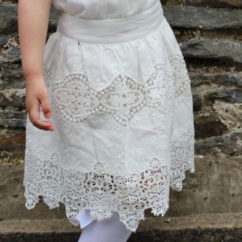 Naxos White Lace Skirt