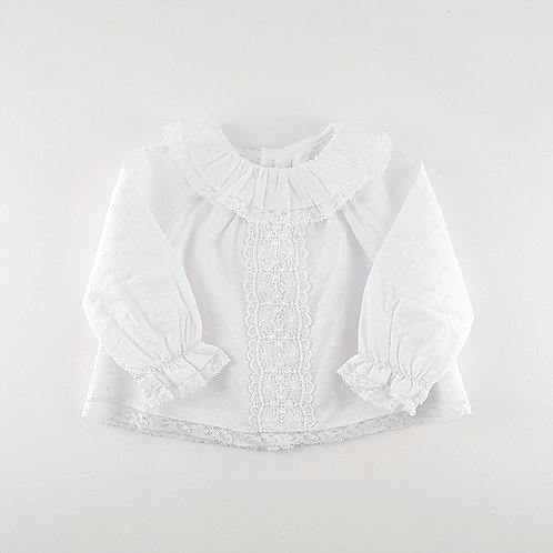 Martin Aranda Lace Blouse with Frill