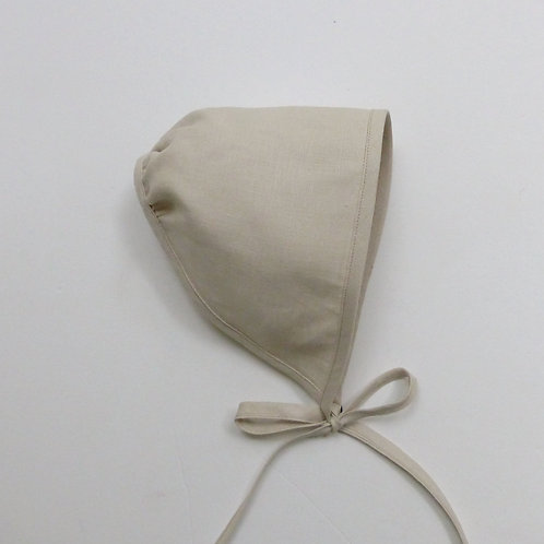 Plain Linen Girls Scat Natural