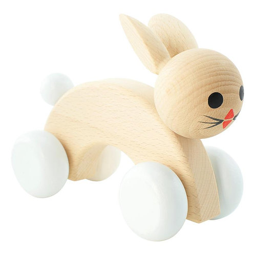 Wooden Push Along Toy | Cotton Tail Rabbit