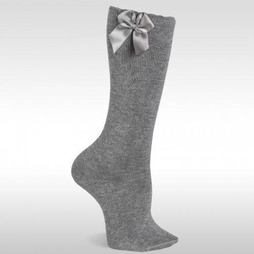 JC 55000 Grey Bow Knee High Sock