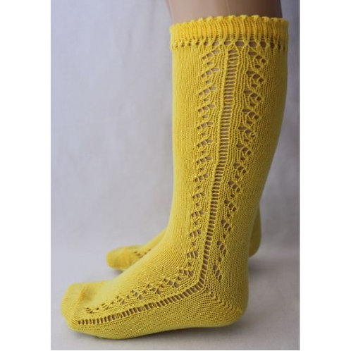 Filton BS30 Yellow Openwork Knee High Sock