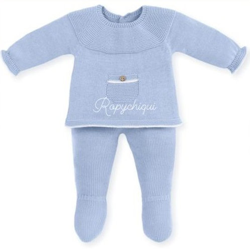 Mac Ilusion Dusty Blue Knitted 2 Piece Set | 3m