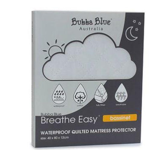 Bubba Blue Breathe Easy Waterproof Quilted Mattress Protector for Bassinet
