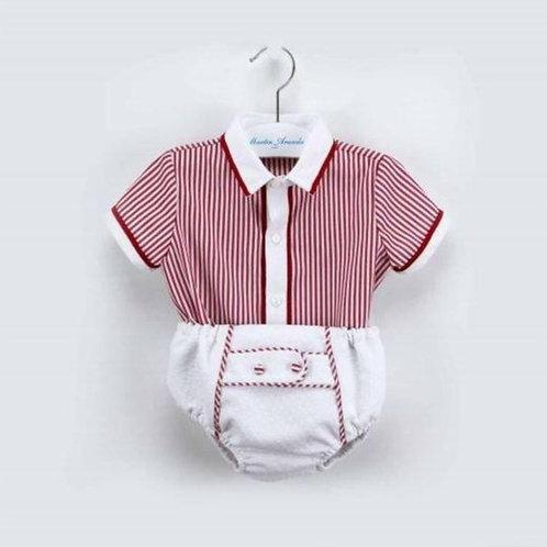Martin Aranda Red Shirt & Shorts Set | 6m