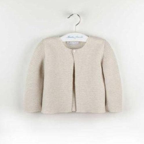 Martin Aranda Sand Plain Knit Cardigan   12m