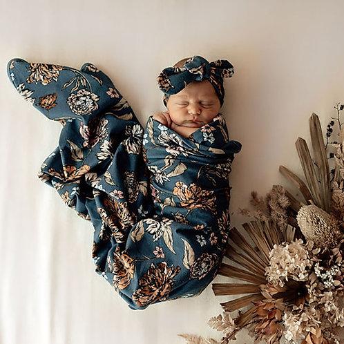 Snuggle Hunny Jersey Wrap & Topknot Set   Belle