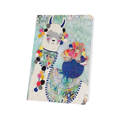 Small Lined Notebook Llama Love