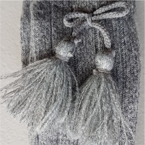 Condor 1765/2 Grey Tassel Knee High Sock