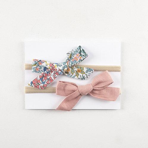 Bramble Liberty+Linen Bows   Set of 2
