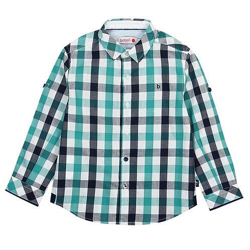 Boboli Green & Navy Check Shirt