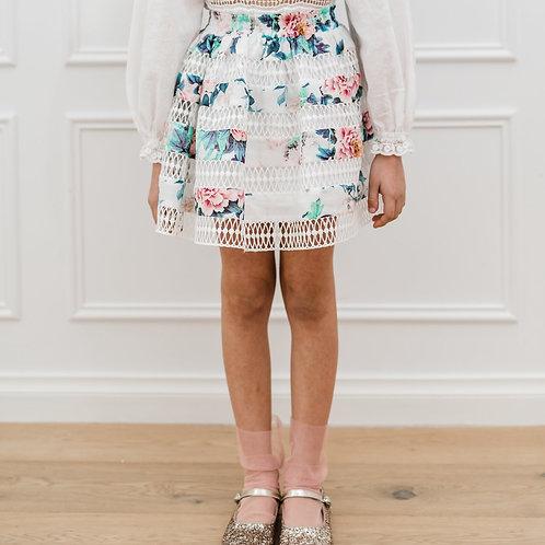 Petite Amalie Floral Print Skirt Front
