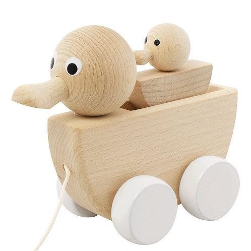 Wooden Pull Along Toy | Gretel Duck & Duckling