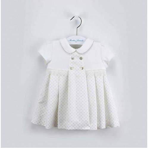 Martin Aranda Cream & Silver Dress | 9m